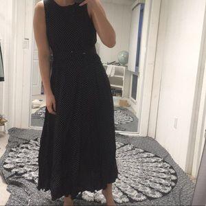 Ann taylor sleeveless polka dot belted dress